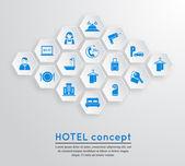 Hotel travel accommodation emblem — Stock Vector
