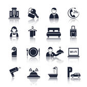 Hotel travel pictograms set — Stock Vector