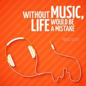 Bright headphones music wallpaper background — Stock Vector