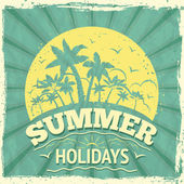 Summer holiday poster — Stock vektor
