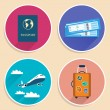 Vacation Travel Voyage Icons Set — Stock Vector