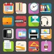 Business flat icons set — Stock Vector #43173489