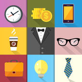 Business Suits Icons Set — Stock Vector
