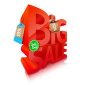Big sale text emblem — Stock Vector