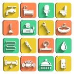 Plumbing Tools Icons Set — Stock Vector #43228449