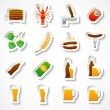 Alcohol beer party stickers set — Stock Vector
