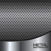 Abstract metal background with perforation — Stock Vector