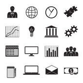 Business Flat Generic Icons Set — Stock Vector