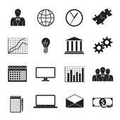 Business Flat Generic Icons Set — Stockvector