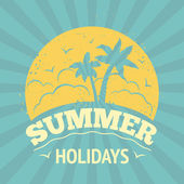 Summer holiday poster — Vector de stock