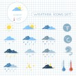 Weather forecast icons set — Stock Vector #43278123