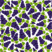 Seamless grapes fruit pattern — Vetorial Stock