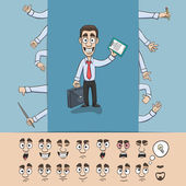 Business man construction pack — Stock Vector