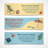 Summer vacation banners horizontal — Stock Vector