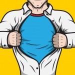 Disguised comic book superhero — Stock Vector #43330499