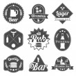 Alcohol beer labels badges collection — Stock Vector