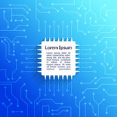 Circuit board blue background — Stockvektor