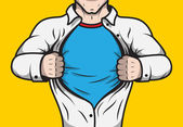 Disguised comic book superhero — Stock Vector