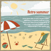 Summer vacation background retro — Stockvektor