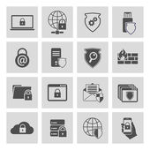 Information technology security icons set — Stock Vector