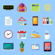 Business flat icons set — Stock Vector #43393719