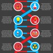 Постер, плакат: Chemistry or biology flat infographics
