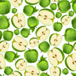 Постер, плакат: Seamless apple fruit sliced pattern