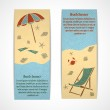 Summer vacation banners vertical — Stock Vector #43394207