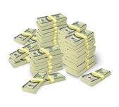 Money stacks banknotes pile concept — Stock Vector