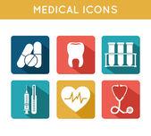 Gesundheitswesen medizinische icons set — Stockvektor