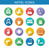 Hotel Travel Icons Set — Stock Vector