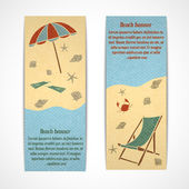 Summer vacation banners vertical — Stock Vector