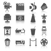 Cinema entertainment icons set — Stock Vector