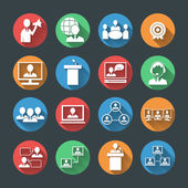 Business People Icons Set — Stock Vector