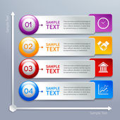 Paper infographics template — Stock Vector