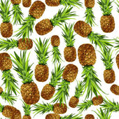 Pineapple seamless pattern — Stock Vector
