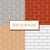 Seamless brick wall rectangular pattern — Stock Vector