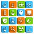 Science Laboratory Icons Set — Stock Vector
