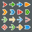 Arrow Symbols Icons Set — Stock Vector