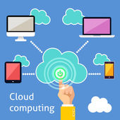 Cloud computing infographic — Stock Vector