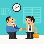 Business life hire scene — Stock Vector
