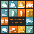 Постер, плакат: Flat Engineering Icons Set
