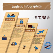 Logistic infographic template — Stock Vector