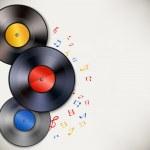 Vinyl record background — Stock Vector #43731593