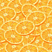 Sliced orange seamless background — Stock Vector