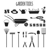 Garden tools icons set — Stock Vector