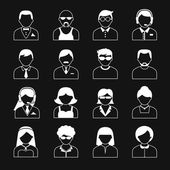 Avatar Characters Icons Set — Stock Vector