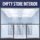 Empty store interior — Stock Vector
