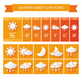 Weather widget icons set — Stock Vector