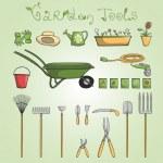 Garden tools icons set — Stock Vector #43837333